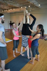 Assisted handstand